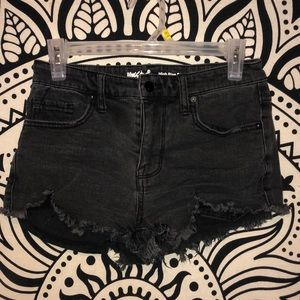 High waisted short black shorts